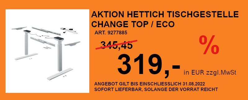 Aktion Hettich Tischgestelle Change Top Eco 9277885