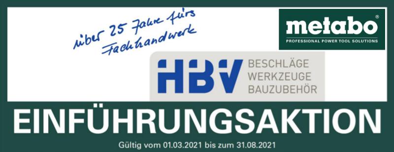 Metabo Aktion bei HBV Hermsdorf