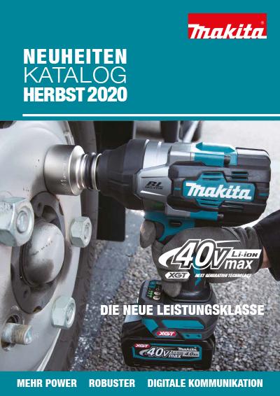 Neuheiten Herbst Katalog Makita 2020