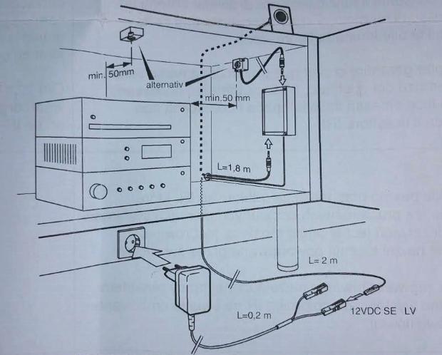 infrarot repeater plus set halemeier 3005202 f r tv sat. Black Bedroom Furniture Sets. Home Design Ideas