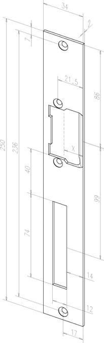 effeff assa abloy flachschlie blech 03335 04 33354 4042203000704 effeff assa abloy. Black Bedroom Furniture Sets. Home Design Ideas